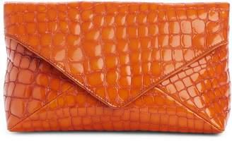 Dries Van Noten Croc Embossed Leather Clutch