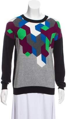 Tibi Lightweight Long Sleeve Sweater
