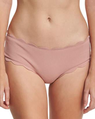 Marysia Spring Scalloped Boy-Cut Bikini Swim Bottom $150 thestylecure.com