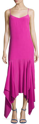SOLACE London Wyatt Handkerchief Hem Slip Dress, Pink