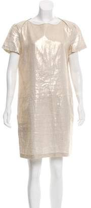 Magaschoni Metallic Mini Dress