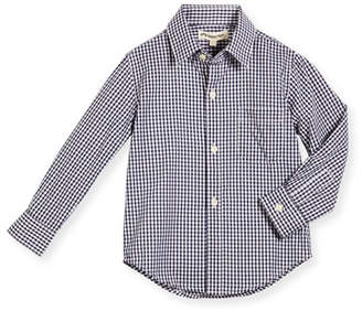 Appaman Long-Sleeve Cotton Gingham Shirt, Blue, Size 2-14