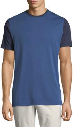 Robert Barakett Men's Dorval Contrast-Front Crewneck T-Shirt