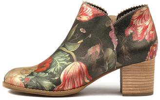 Django & Juliette Sharon Vintage floral Boots Womens Shoes Casual Ankle Boots