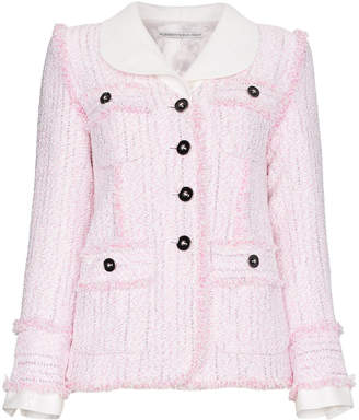 Blend of America Alessandra Rich single breasted tweed cotton jacket