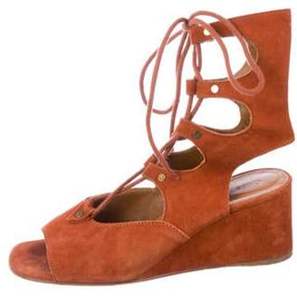 Chloé Suede Ankle Strap Wedges Chloé Suede Ankle Strap Wedges
