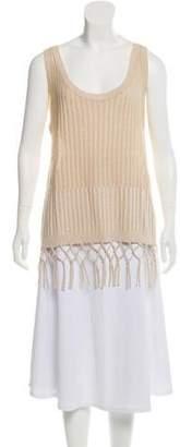 White + Warren Sleeveless Linen Top