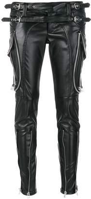 Faith Connexion zip detail patent look trousers