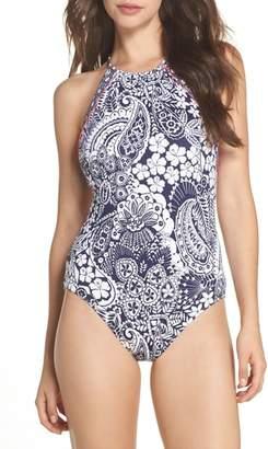 Tommy Bahama Paisley Paradise Reversible One-Piece Swimsuit