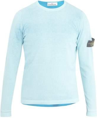 Stone Island Reversible crew-neck cotton sweater