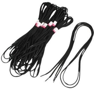 Unique Bargains 10 Pairs Sport Leisure Shoes Sneakers Round Shoelaces Black