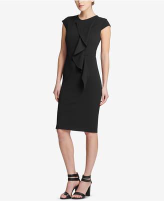 DKNY Ruffled Cap-Sleeve Sheath Dress, Created for Macy's