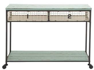 Benzara Metal Storage Console