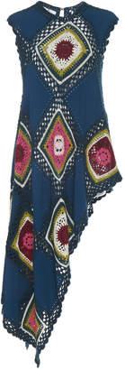 Oscar de la Renta Sleeveless Crochet Drape Tunic