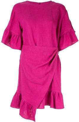 GOEN.J ruffle-trimmed wrap dress