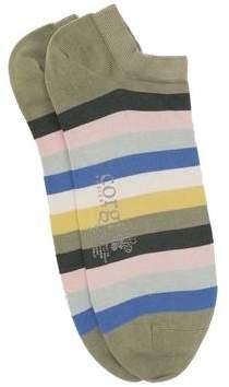 Corgi Multi Stripe Low Socks in Green