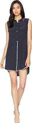 Equipment Women's Slim Signature Dress with Contrast Color Taping