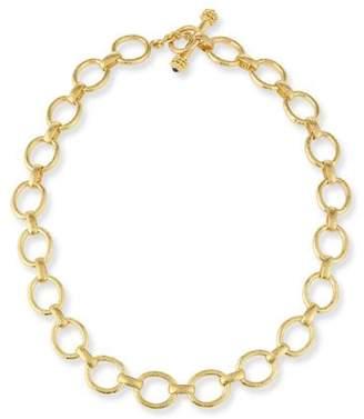 """Elizabeth Locke 19K Gold Smooth Link Necklace, 17"""""""