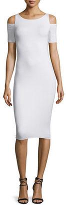 Bailey 44 Deneuve Cold-Shoulder Bodycon Dress, White $138 thestylecure.com