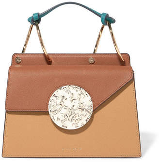 Danse Lente Phoebe Bis Color-block Textured-leather And Resin Tote - Tan