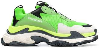 Balenciaga Fluorescent Green Triple S Sneakers