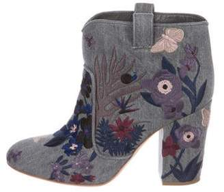 Laurence Dacade Embroidered Denim Boots