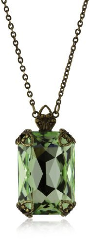 "Sorrelli Sweet Dreams"" Large Emerald Cut Crystal Pendant Necklace"