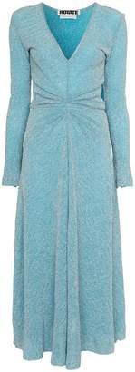 Rotate pleat detail waist maxi dress
