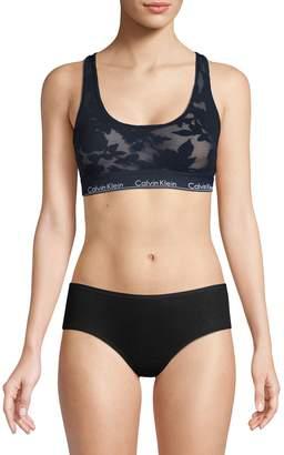 Calvin Klein Underwear Lace Logo Sports Bra