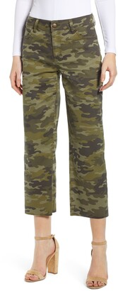 Tinsel Camouflage Wide Leg Crop Pants
