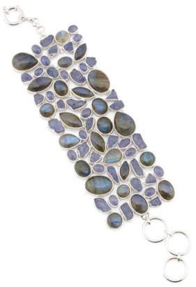 Made In India Labradorite And Rough Tanzanite Bracelet