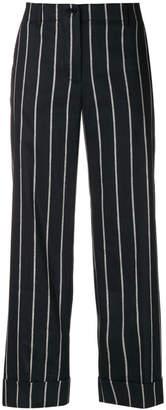 Alberto Biani cropped striped trousers