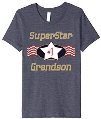 SuperStar Number One Grandson T-shirts - Best Grandson Gift
