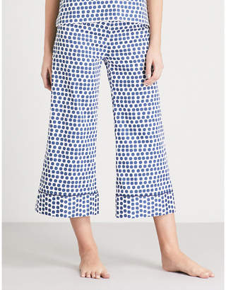 Bodas Siena cropped cotton pyjama bottoms