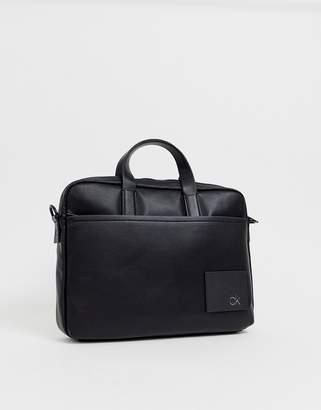 5ebe99898e Calvin Klein Direct logo laptop bag in black