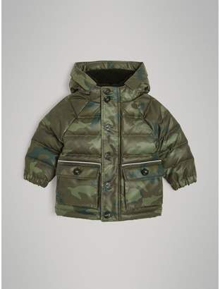 Burberry Camouflage Print Down-filled Puffer Jacket