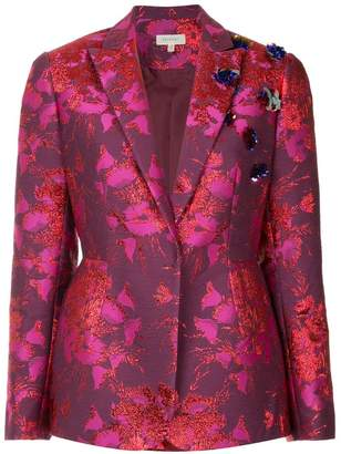 DELPOZO floral embroidered blazer