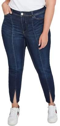 Addition Elle LOVE AND LEGEND Front Slit Skinny Jeans