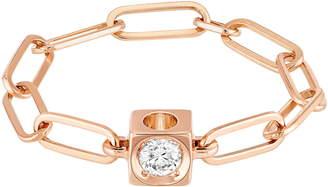 Dinh Van Le Cube Diamant 18K Gold Chain Ring