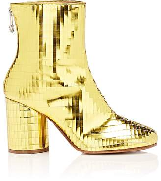 Maison Margiela Women's Laser-Cut Specchio Leather Ankle Boots