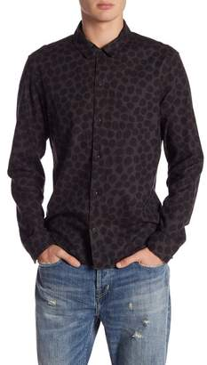 AllSaints Waka Spot Print Regular Fit Shirt