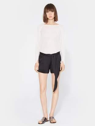 Halston Tie Waist Shorts