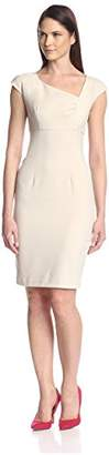 Society New York Women's Asymmetrical Neckline Dress