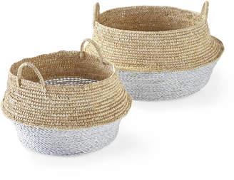 Serena & Lily Round Belly Baskets (Set of 2)