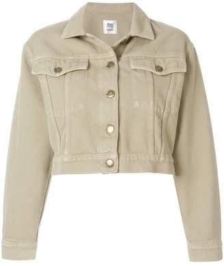 Closed cropped corduroy jacket