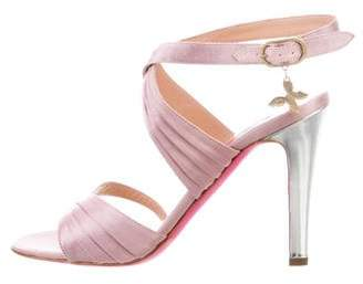 Ungaro Crossover Satin Sandals
