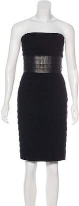 Carmen Marc Valvo Strapless Bodycon Dress