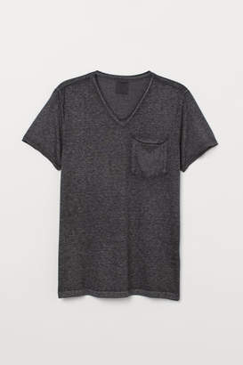 H&M V-neck T-shirt - Black