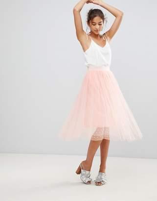 New Look Tulle Bead Midi Skirt