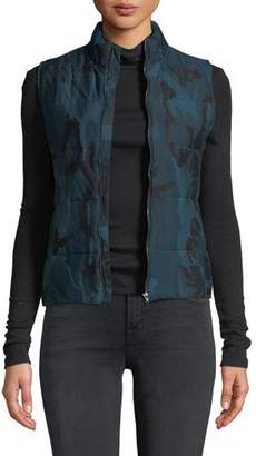 Neiman Marcus Majestic Paris for Quilted Camo-Print Vest